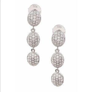 SOON- Savvy Cie 925 Pave CZ Triple Drop Earrings